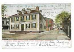 CPA ETATS-UNIS USA NEWPORT THE VERNON HOUSE HEADQUARTERS OF GEN. ROCHEMBEAU - Newport