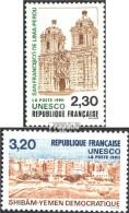 France DB41-DB42 (complète.Edition.) Neuf Avec Gomme Originale 1990 Unesco-Bâtiments - France