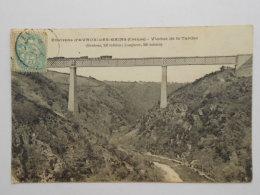 - CPA 23 CHAMBON Sur VOUEIZE  Environs D'Evaux LES Bains - Passage Du Train Sur Le Viaduc De La Tardes  1908 - Chambon Sur Voueize