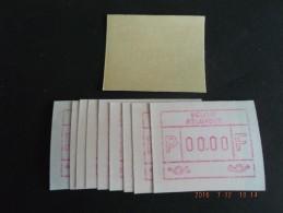 ATM.Jac Papier Crème. Nul-testdruk. NF. 10x. - Postage Labels
