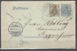Germany1908: Michel P70X With WM - Allemagne