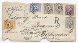 1892 NED INDIE OVER BRINDISI PRESSNITZ POSTAGENT PENANG MEDAN DELI SUMATRA REGISTERED - Netherlands Indies