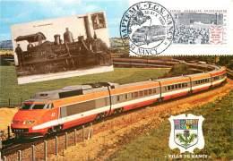NANCY . BAPTEME TGV N°47 . LE 30 OCTOBRE 1982 . MARRAINE CLAUDINE COSTER . - Nancy