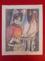 PORTRAIT DE BERNARD LORJOU PASTEL SIGNE 1957 - Pastels