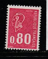 FRANCE N° 1816 0.80 ROUGE TYPE MARIANNE DE BECQUET SANS PHOSPHORE GOMME BRILLANTE NEUF SANS CHARNIERE - Abarten Und Kuriositäten