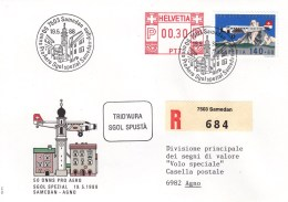 LETTRE 1988 - Timbres