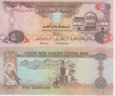 (B0328) UNITED ARAB EMIRATES, 2000. 5 Dirhams. P-19a. UNC - Emirats Arabes Unis