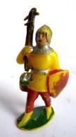 Figurine MARQUE INCONNUE 50-60's Pas Starlux Clairet Jim Cyrnos MOYEN AGE Avec Arbalète Cassée - Starlux