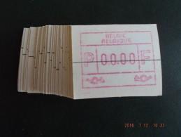 ATM.Jac Papier Crème. Nul-testdruk. NF. Snijlijn Middenstuk. 50x. - Automatenmarken (ATM)