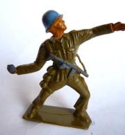 Figurine MARQUE INCONNUE INFANTERIE WW2 CASQUE BLEU GRENADIER - Starlux