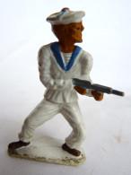 Figurine MARQUE INCONNUE MARIN WW2 MITRAILLETTE - Starlux