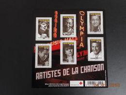 Feuillet N° F4605 Neuf ** - Grands Noms De La Chanson Française - Blocs & Feuillets