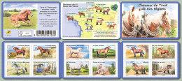 2013 - CARNET AUTOADHESIF - Faune - Chevaux De Trait De Nos Régions - N° YT : 813 à 824 - Carnets