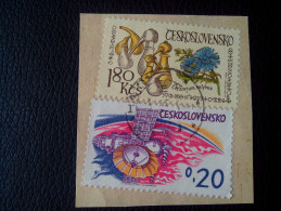 RARE 1973 Czechoslovakia 1.80 Ksc/0.20 SPACE/FLOWER-INLYBUS/ART RECOMMENDET LETTRE ON PAPER COVER USED SEAL - Tchécoslovaquie
