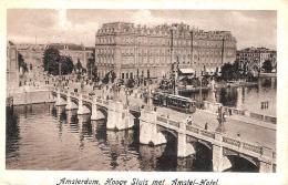 [DC3011] CPA - OLANDA - AMSTERDAM - HOOGE SLUIS MET AMSTEL HOTEL - Viaggiata 1922 - Old Postcard - Amsterdam