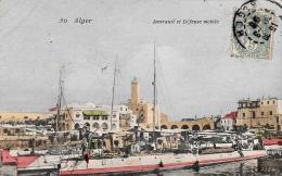 [DC3016] CPA - ALGERIA - ALGERI - AMIRAUTE ET DEFENSE MOBILE - Viaggiata - Old Postcard - Algeri
