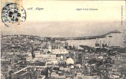 [DC3019] CPA - ALGERIA - ALGERI - ALGER A VOL D'OISEAU - Viaggiata - Old Postcard - Algeri
