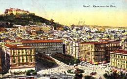 [DC3024] CPA - NAPOLI - PANORAMA DEL MOLO - TIMBRO HOTEL CONTINETAL SUL RETRO - Viaggiata 1934 - Old Postcard - Napoli (Naples)