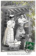 [DC3035] CPA - BONJOUR, BEAU FORGERON ! N'AURIEZ-VOUS PAS LE TEMPS DE LAISSER LE MARTEAU ... - Viaggiata - Old Postcard - Coppie