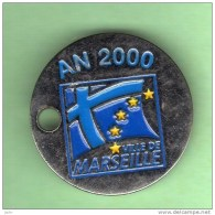 Jeton De Caddie *** VILLE DE MARSEILLE AN 2000 AVEC VOUS MAIRIE 11 & 12e *** (208) - Gettoni Di Carrelli