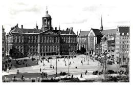 [DC3040] CPA - OLANDA PAESI BASSI - AMSTERDAM - PAZZA DAM CON IL PALAZZO REALE - ANIMATA - Non Viaggiata - Old Postcard - Amsterdam