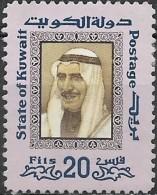 KUWAIT 1975  Shaikh Sabah - 20f. - Multicoloured  MH - Kuwait