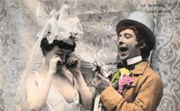 [DC3062] CPA - LA RENTREE DES MARIES - COPPIE - Non Viaggiata - Old Postcard - Coppie