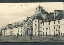 CPA - BREST - Caserne Fautras - 2ème Colonial, Animé - Brest