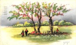 [DC3082] CPA - ALBERI FIORITI - Viaggiata - Old Postcard - Agriculture