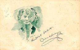 [DC3086] CPA - ACQUERELLO A MANO - VOLTO - Viaggiata - Old Postcard - Cartoline