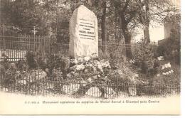 5021.A.  MONUMENT EXPIATOIRE DU SUPPLICE DE MICHEL SERVET A CHAMPEL PRES GENEVE. - GE Genève