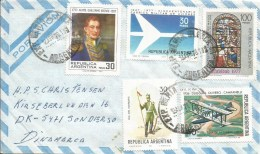 Argentina 1978 Bahia Blanca Military Aviation Airplane  Stainglassed Church Window Cover - Storia Postale
