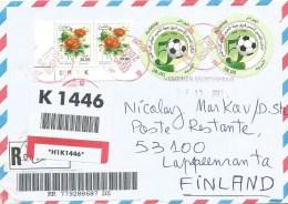 Algeria 2013 Aflou Football Soccer Rose Barcoded Registered Cover - Coppa Delle Nazioni Africane