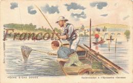 Illustration Pêche Pêcheurs D'eau Douce - Enlèvement à L'Epuisette Chevesnes - Pub Chocolat Louis - Pêche