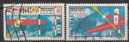 1249 Italia 1971 Campionati Mondiali Di Canoa Viaggiato Full Set Italy - Canottaggio