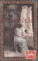 Maman Et Son Enfant Dans Son Lit - Ange Angel Gardien - Enfants