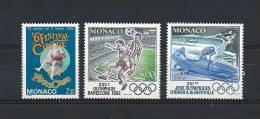 Monaco Timbres De 1992  Neufs**  N°1810 A 1812 - Monaco