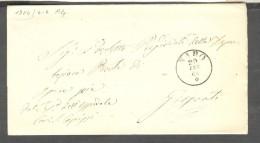 ITALIA - PREFILATELICA - SICILIA - 1864  DA NARO  PER GIRGENTI   CON TESTO - Italia