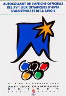 Sports Divers   H23        Autocollant. Affiche Officielle Des XVI ème Jeux Olympiques D'hiver D'Alberville - Jeux Olympiques