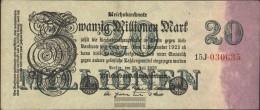 German Empire Rosenbg: 96c, Privatfirmendruck, 6stellige Kontroll-number., FZ + BZ Black Used (III) 1923 20 Million. Mar - [ 3] 1918-1933 : Weimar Republic