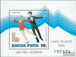 Hungary Block140A (complete Issue) Fine Used / Cancelled 1979 Olympics Winter Games '80 - Hungary