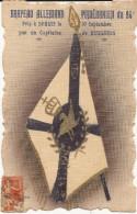 4874. CPA PEINTE A LA MAIN GUERRE 14 18. DRAPEAU ALLEMAND POMERANIEN DU 94è PRIS A SENLIS PAR UN CAPITAINE DE HUSSARDS - Guerre 1914-18