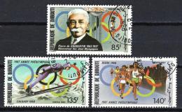 Jeux Olympiques D´été Seoul 1988 Djibouti (32) Série Complète De 3 Timbres Oblitérés - Timbres