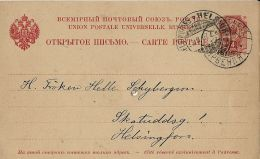 FINLANDIA FINLAND 4 K RUSSLAND 1907 VEIKKOLA To HELSINGFORS - Postal Stationery
