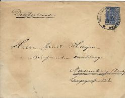 FINLANDIA FINLAND 25 P COVER 1891 HELSINGFORS To NAUMBURG GERMANY - Postal Stationery