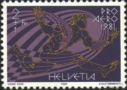 Suisse 1196 (complète.Edition.) Oblitéré 1981 Swissair - Used Stamps