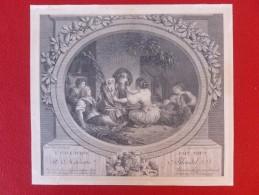 GRAVURE FRAGONARD L ÉDUCATION FAIT TOUT A MADAME BLONDEL PAR DE LAUNAY - Prints & Engravings