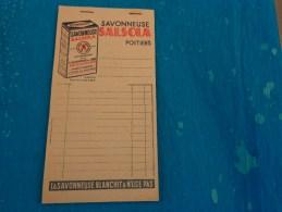 Bloc De Papier Recto Verso Pub Savonneue Salsola Poitiers Blanchissage Du Linge-la Savonneuse Blanchit Et N´use Pas - Publicité