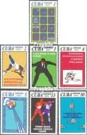 Cuba 1832-1838 (complète.Edition.) Neuf Avec Gomme Originale 1972 événements Sportifs De Année 1972 - Cuba