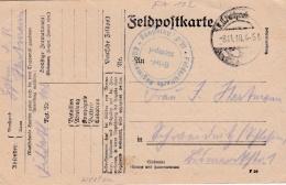 Feldpost WW1: Feldartillerie Regiment Nr. 102 P/m  8.11.1918 - Letter Inside  (G86-1) - Militaria